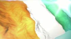 3d flag cote d'ivoire 1080p Stock Footage
