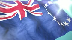 3d flag cook islands 1080p - stock footage