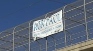 Ron Paul Sign 02 Stock Footage