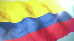 3d flag colombia 1080p Stock Footage