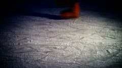 Skating on ice Stock Footage