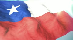 3d flag chile 1080p Stock Footage