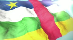 3d flag central african republic 1080p - stock footage
