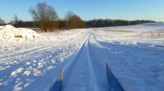 Ski-track Stock Footage
