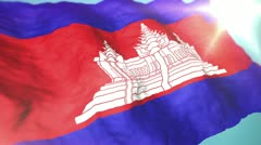 3d flag Cambodia 1080p Stock Footage