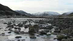 River Calder and Monadhliath Mountains Scottish highlands Stock Footage
