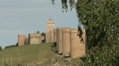 Avila Spain walls and tree Stock Footage