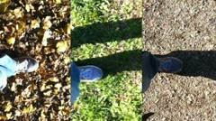 Walking composition (shoes close-up) Stock Footage