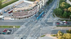 Intersection and traffic Stock Footage