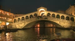 Rialto Bridge in Venice Stock Footage