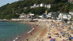 English town beach Stock Footage