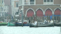 Boats on the Canale Grande Stock Footage