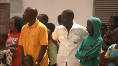 Crowd in Senegal, Africa Stock Footage