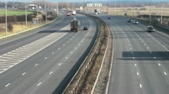 Motorway Daytime Stock Footage