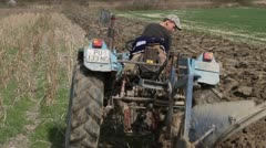 Tractor in the field Stock Footage