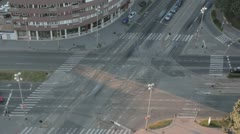 Intersection in Zagreb Stock Footage