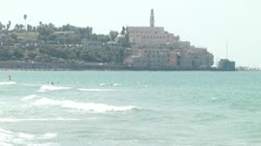 Tel Aviv Jaffa bay R Stock Footage