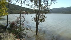 Stock Video Footage of lexington reservoir 2010 overfilled