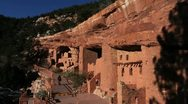 Stock Video Footage of Colorado Manitou Cliff Dwellings C03x