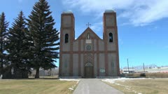 Colorado Conejos Our Lady of Guadalupe church  sx Stock Footage