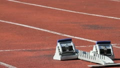sprint start in track and field - stock footage