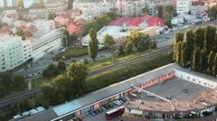 An usual Zagreb part of town Stock Footage