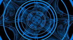 Rotating Hypnotic blue magic glow 1080 Stock Footage