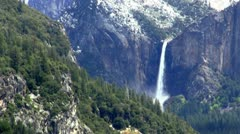 Waterfall in the mountains - stock footage