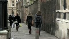 Senate House Passage, Cambridge, UK Stock Footage