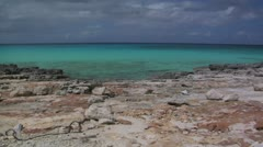 Bahamas rocky shore Stock Footage
