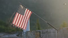 Miniature Country American Flag Stock Footage