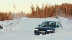 Winter racing out of trajectory ProRes Stock Footage