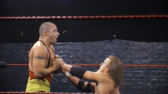 Pro Wrestling Move - Wristlock Submission Hold HD Stock Footage