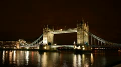 London- Tower Bridge Timelapse Stock Footage