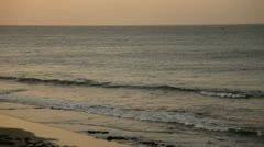 Beach At Sunset Stock Footage