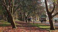Stock Video Footage of London, park in Autumn Fall