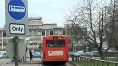 Bus Stop at Addenbrooke's  Hospital,  Cambridge, UK Stock Footage