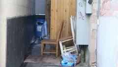 Alley full of junk Stock Footage