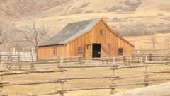 Old Barn in the Mountains Stock Footage