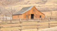 Stock Video Footage of Old Barn in the Mountains