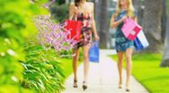 Stock Video Footage of Beautiful Girls on a Shopping Day
