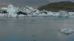 Glacier Lagoon Iceland Stock Footage