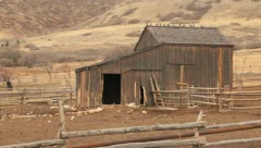 Old barn in the mountains 2 Stock Footage