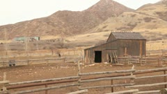 Old barn in the mountains 3 Stock Footage