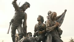 Bronze Statue Pioneers 1 Stock Footage
