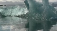 Stock Video Footage of Glacier Lagoon