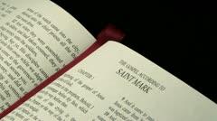 Gospel of Mark r 02 - stock footage