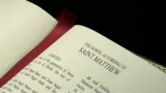 Gospel of Matthew r 03 - stock footage