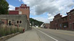 Iowa Potosi street sx Stock Footage