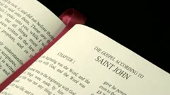 Gospel of Saint John r 03 - stock footage